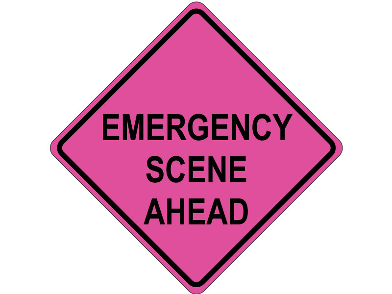 EMERGENCY SCENE AHEAD