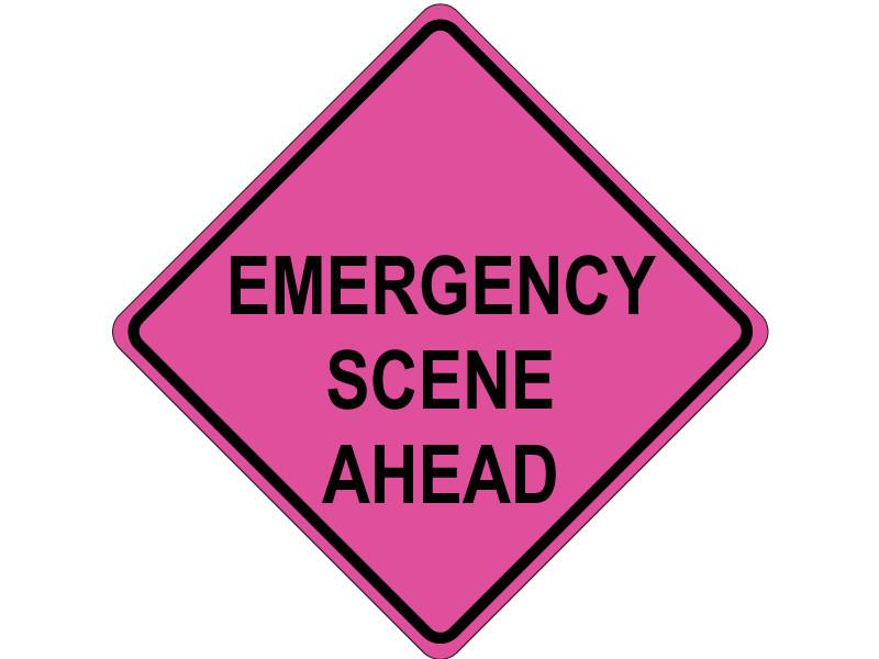EMERGENCY SCENE AHEAD