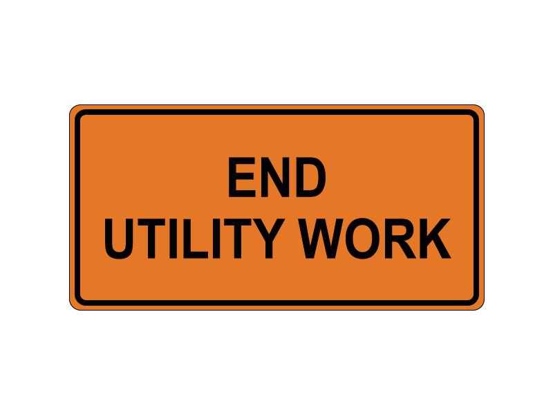 END UTILITY WORK