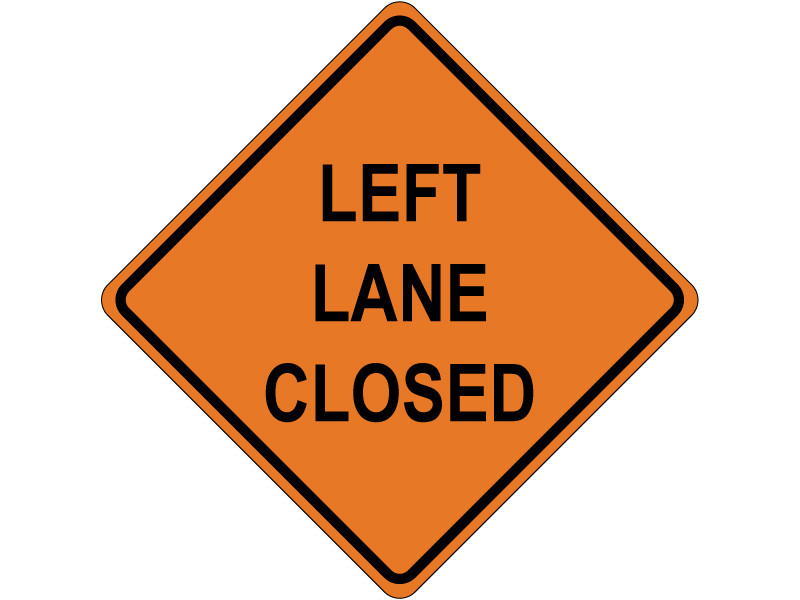 LEFT LANE CLOSED