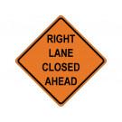 Right Lane Closed Ahead